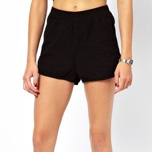 American Apparel black corduroy shorts